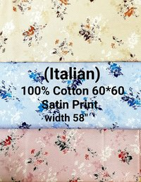 Discharge printed Shirting Fabric
