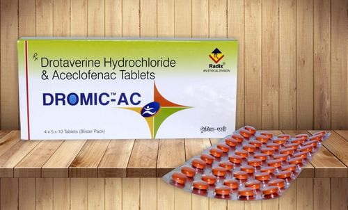 Drotaverine 80 mg & Aceclofenac 100 mg Tablet