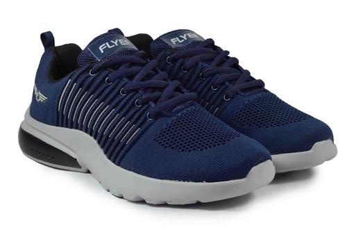 Mens flyknit sport blue shoes