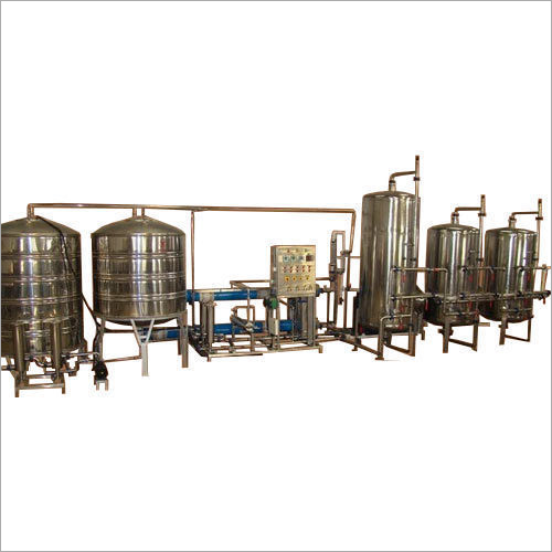 Automatic Stainless Less And FRP Mineral Water RO And UV Plant