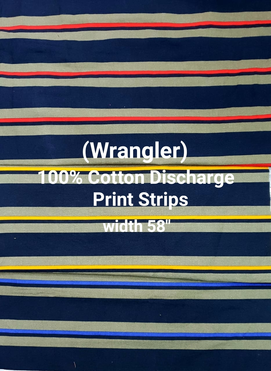 WRANGLER 100% cotton discharge print stripe