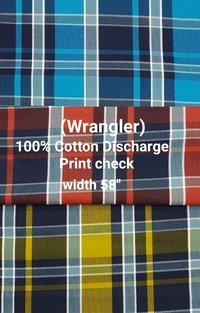 WRANGLER 100% cotton discharge print stripe