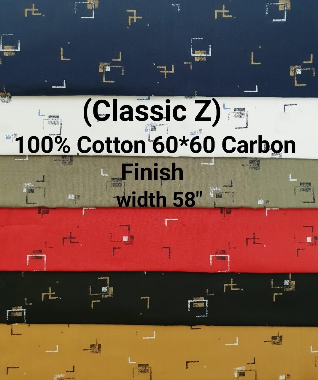 Classic-Z 100% cotton 60*60 carbon finish
