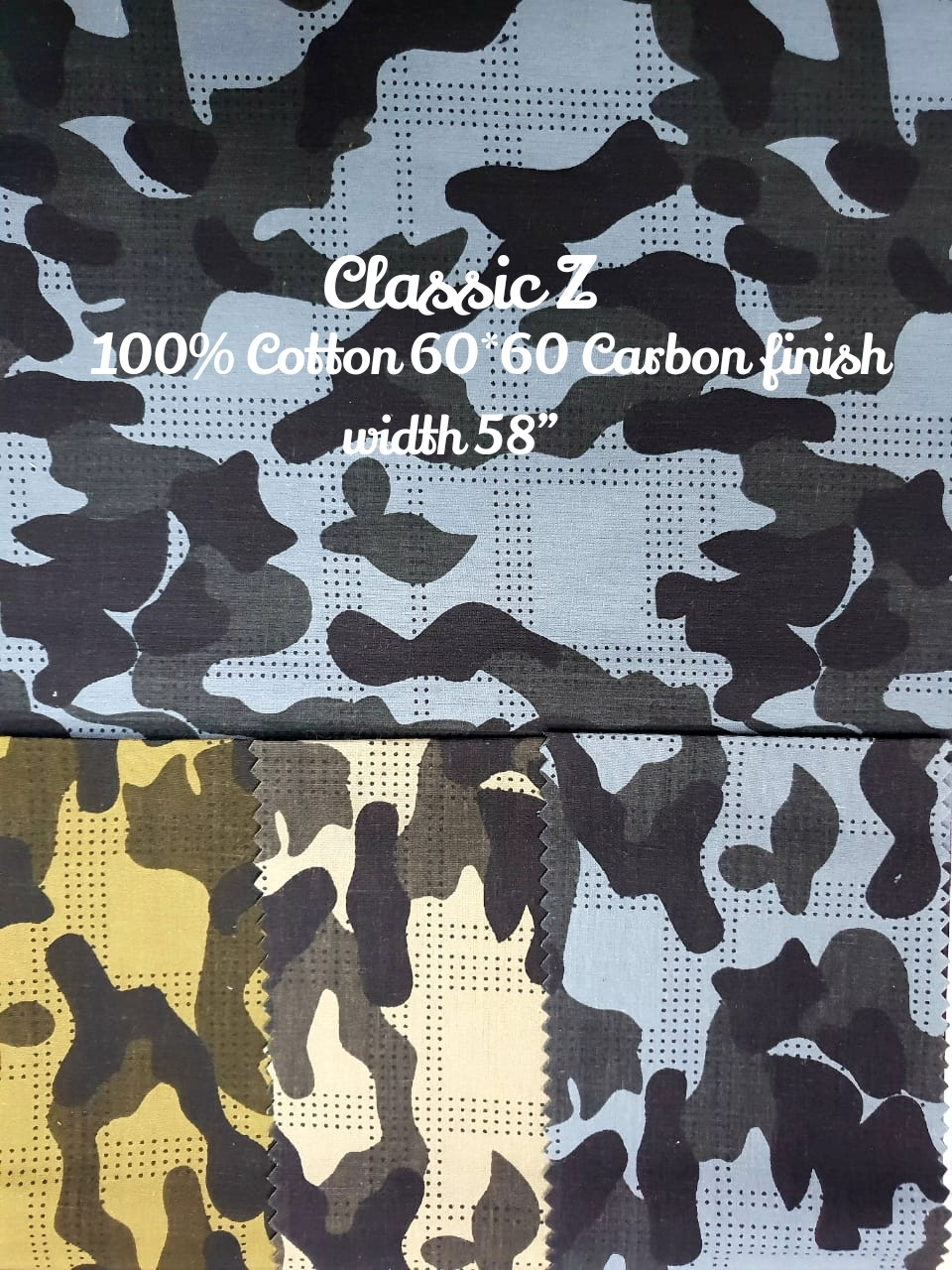 Classic-Z 100% cotton 60*60 carbon finish