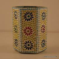 Antique & Decor Glass Mosaic Vase