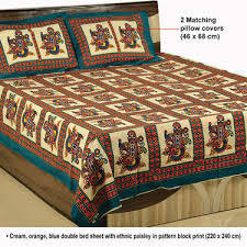 cotton printed bedding quilt