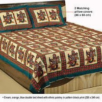 cotton printed bedding quilt