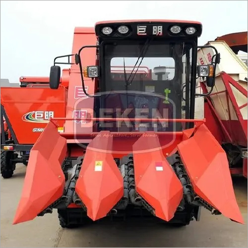 3 Rows Corn Combine Harvester