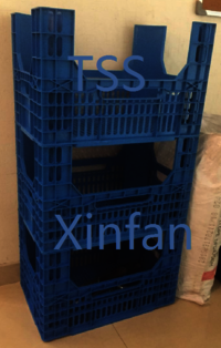 Stackable Plastic Crate Plastic Bin for Organization