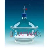 Dessicator Vacuum with tubular Lid (Borosilicate Glass )