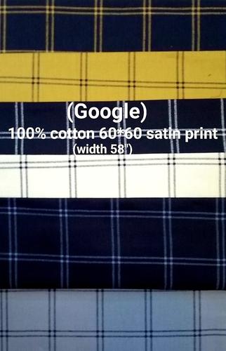 Google 100% cotton 60*60 satin print