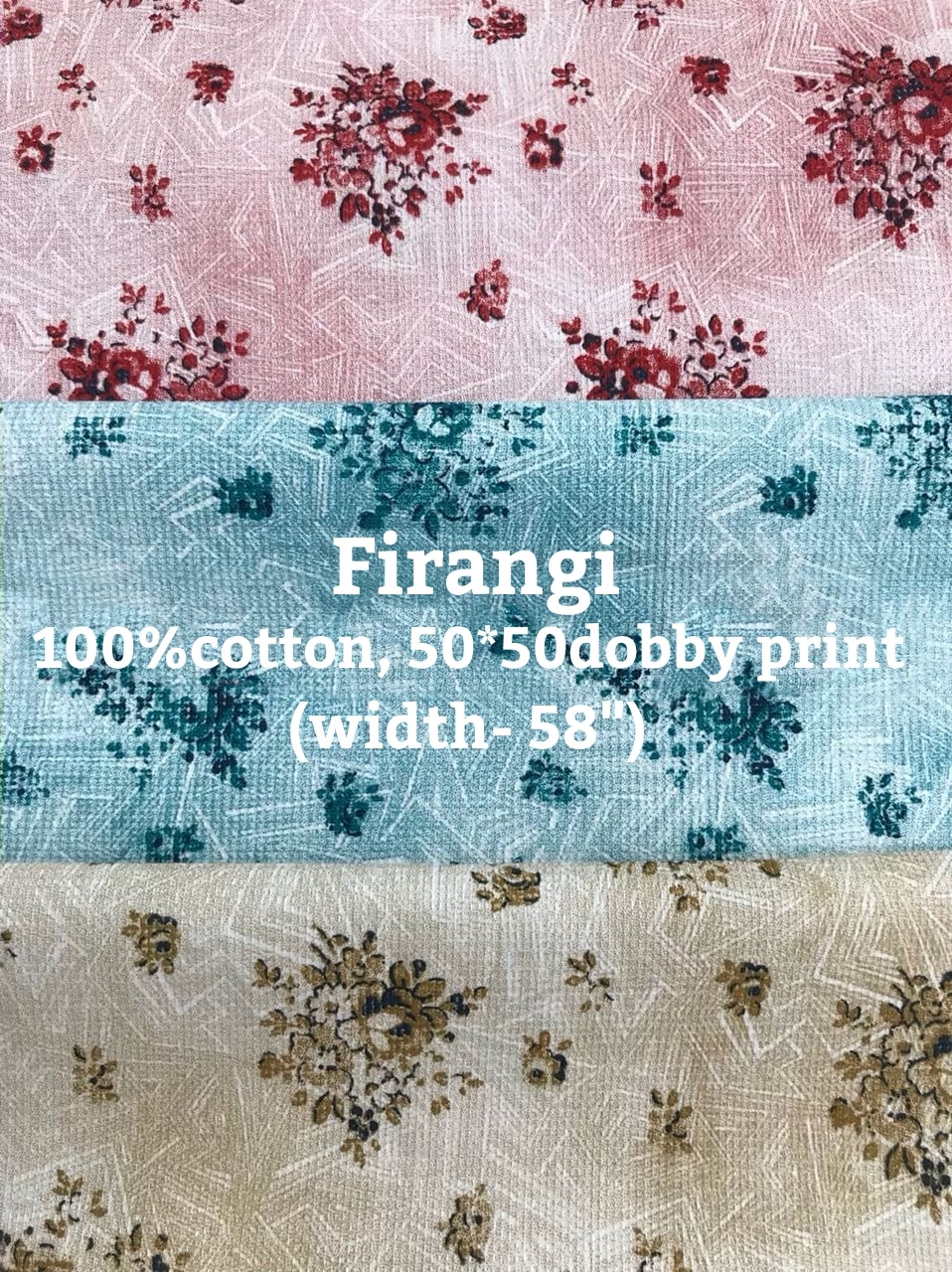 Firangi 100% cotton 50*50 dobby print