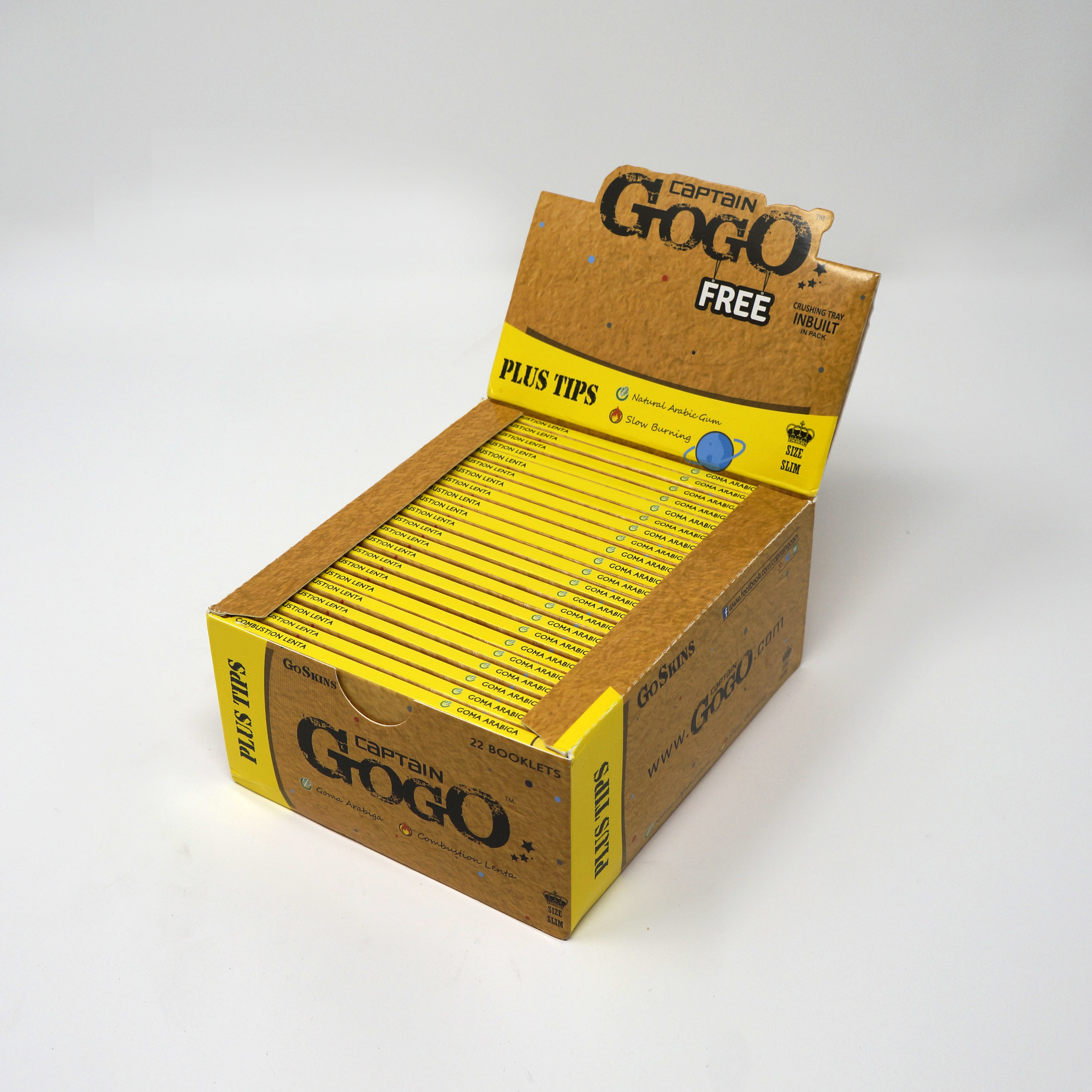 Rolling Paper with Filter Tips King Size Slim Unbleached Brown