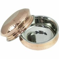 Copper Steel Lagan Handi With Lid