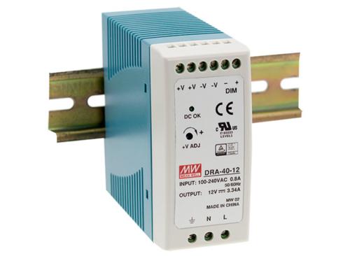 Meanwell DRA & amp DR Series DIN Rail Power Supplies