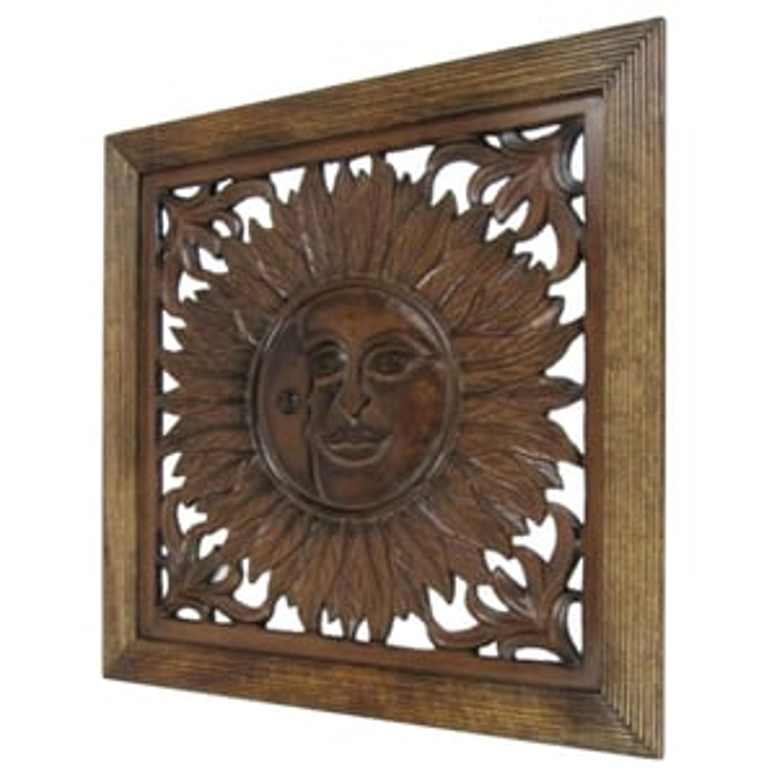 Sun Design Wooden Wall Panel Wall Hanging