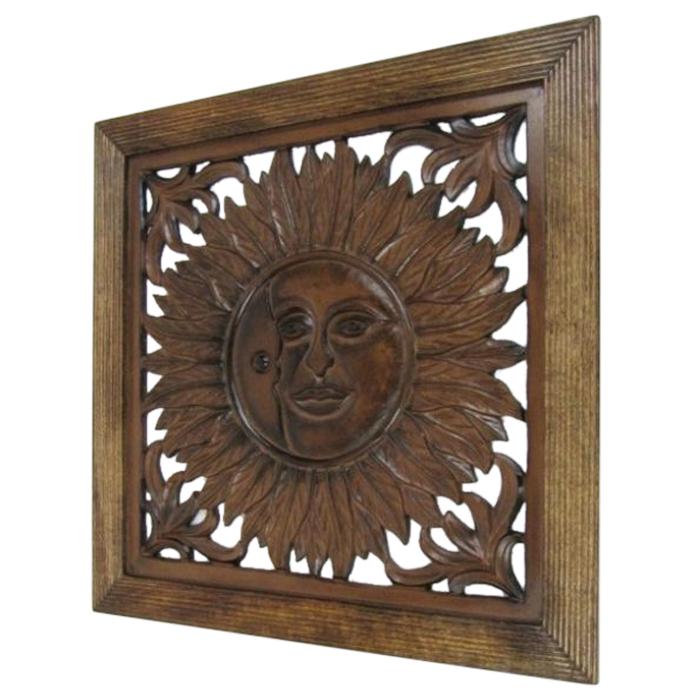 Wooden Wall Panel Wall Hanging Sun