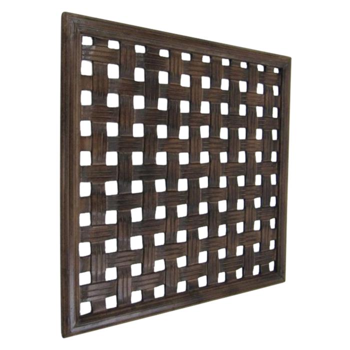Dark Brown Wooden Wall Panel Wall Hanging