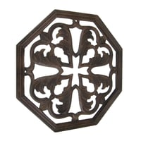 Floral Design Wooden Wall Hanging