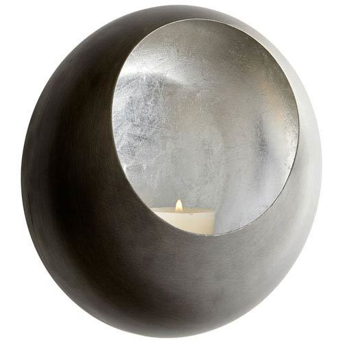 Silver Large Wall Votive Candle Holder