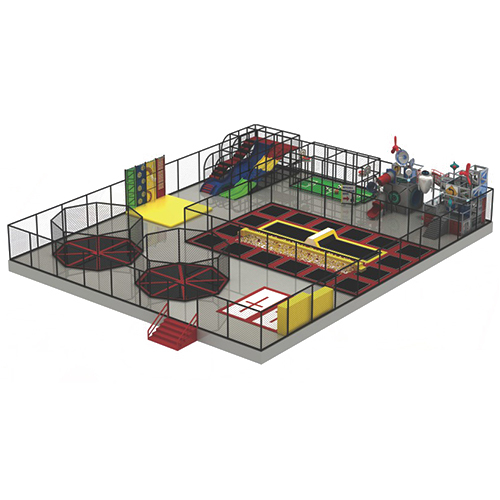 Kids Indoor Playground Amusement Park with Trampoline