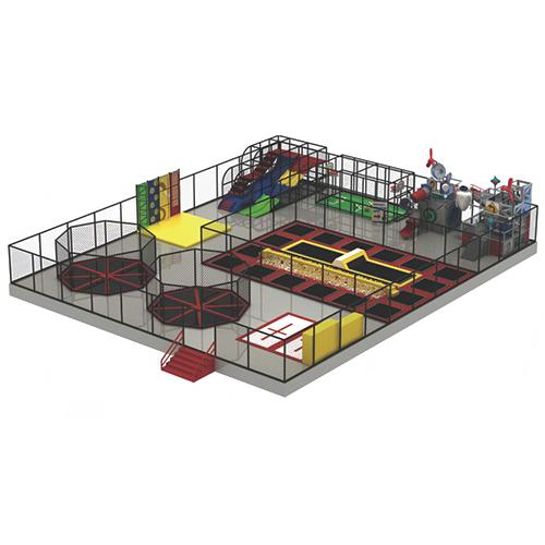 Kids Indoor Playground Amusement Park with Trampoline