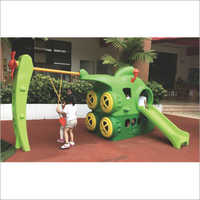 Plastic Slide With Swing