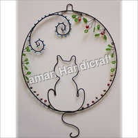 Beaded Cat Wall Hanging