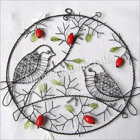 Beaded Bird Wall Hanging
