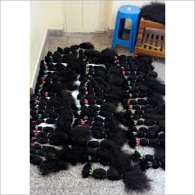 Cuticle Aligned Bulk Weft Human Hair