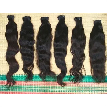 Black Texture Indian Wavy Human Hair Extension