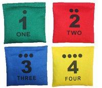 Cotton Bean Bags with Number Printing