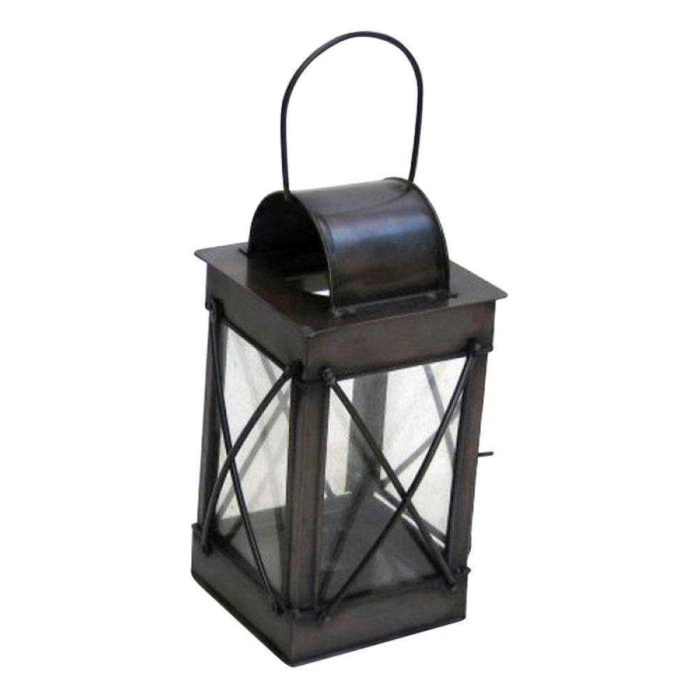 Iron Candle Lantern 4 Sided