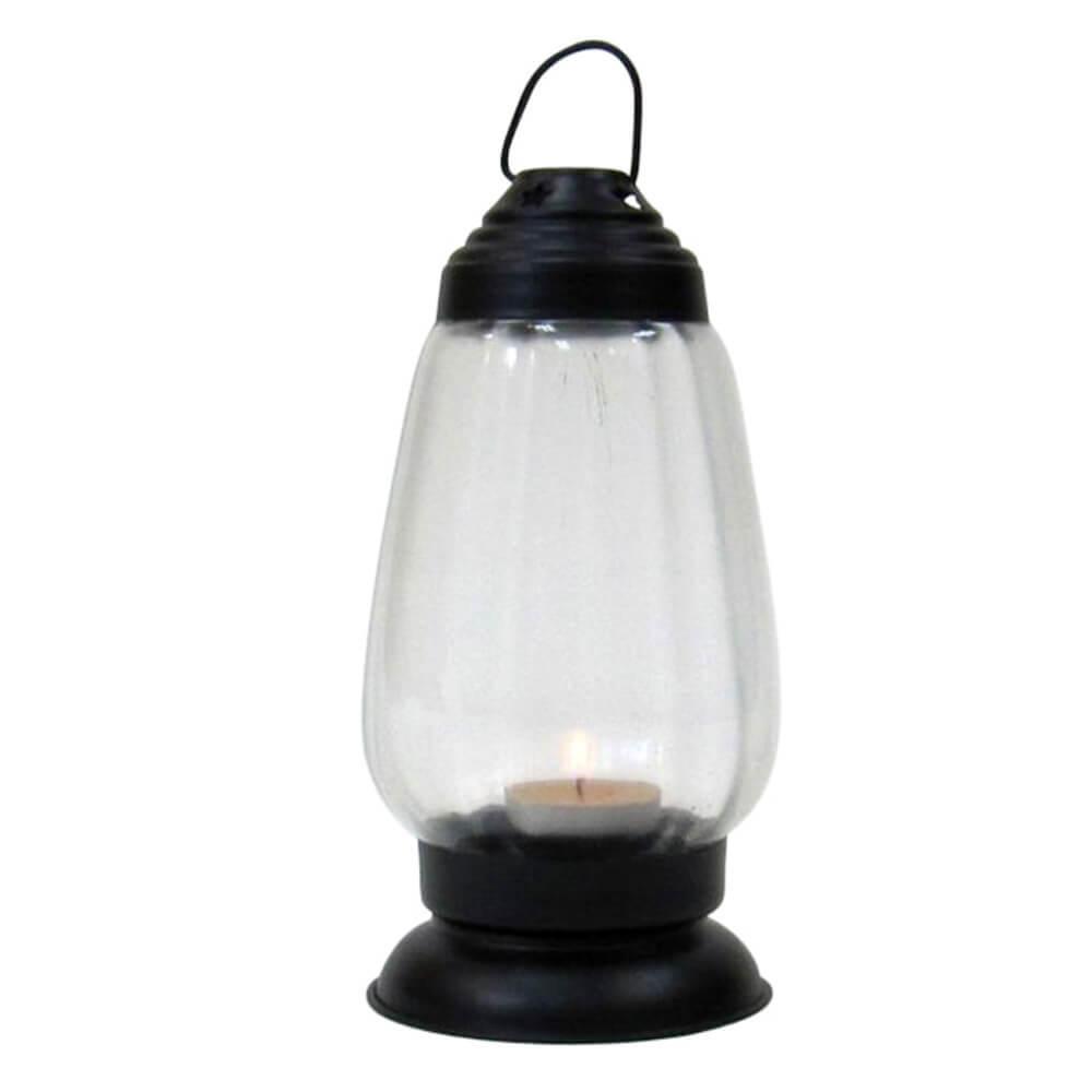 Antique Black Iron Candle Lantern