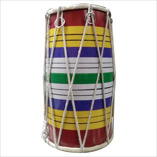 Wooden Multi Color Dholak No 10