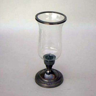 Antique Black Candle Holder Chimney Glass