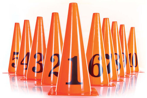 Numbered Marker Cone