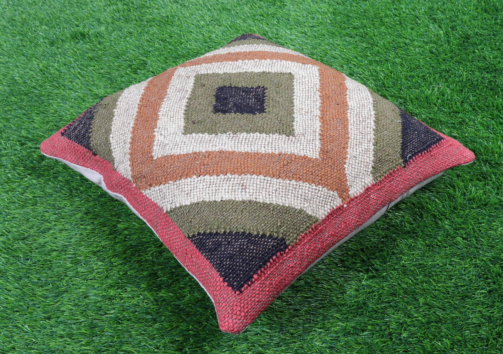 Digital Jute Cushion Cover