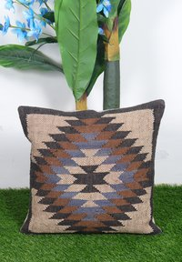 Digital Jute Cushion Cover