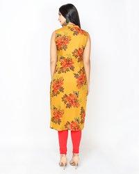 Floral Printed Cotton Kurti