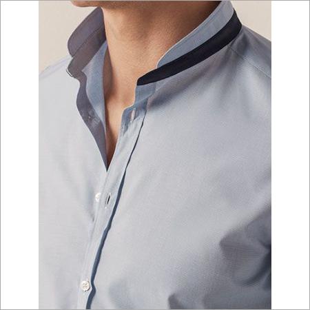 Mandarin Linen Shirt Collar