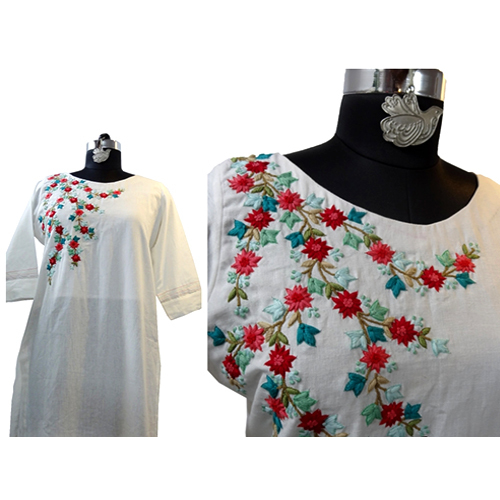 Embroidery Cotton Kurti