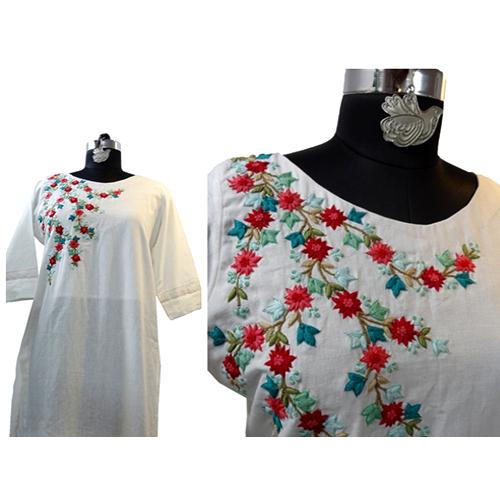 Embroidery Cotton Kurti