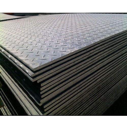 Rectangular Mild Steel Checkered Sheet