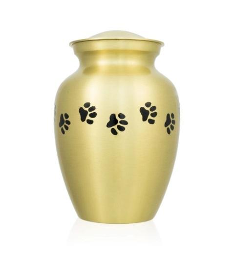 New Medium Pewter Paw Cremation Urn
