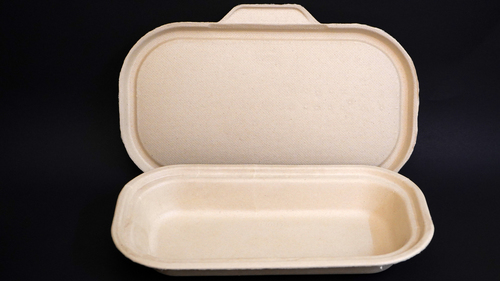 500ML Bagasse Food Container With Lid