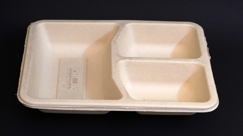 3CP Bagasse Meal Tray(Sealing Option Available)