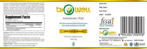 Bovine Colostrum Powder