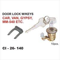 Door Lock W/Keys Car, Van, Gypsy,Mm-540