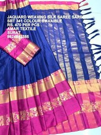 Jaquard Weaving Silk Saree